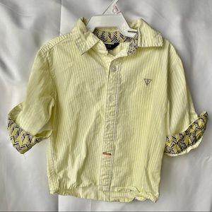 Guess button down shirt boys yellow
